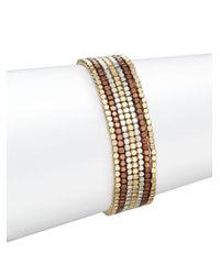 Saks Fifth Avenue | Metallic Multi-tone Beaded Bracelet Set | Lyst