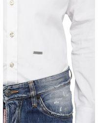DSquared² - White Cotton Poplin Shirt for Men - Lyst