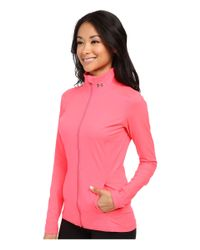 Under Armour - Pink Ua Studio Jacket - Lyst