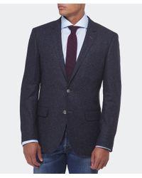 BOSS Blue Hutsons Fleck Wool Jacket for men