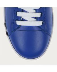 Bally Wivian Women ́s Leather Trainer In True Blue