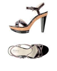 Guess - Black Sandals - Lyst