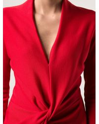 Lanvin Red Jersey Drape Dress