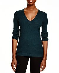 Aqua Black Cashmere Cashmere V-neck Sweater