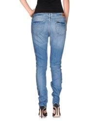 Lee Jeans - Blue Denim Trousers - Lyst