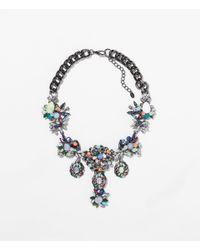 Zara | Metallic Multicolour Necklace | Lyst