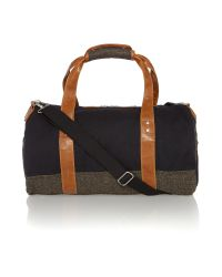 Original Penguin Multicolor Canvas and Tweed Holdall for men