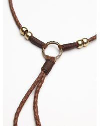 Free People Brown Womens Lawless Leather Bolo