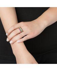 Emily & Ashley | Metallic Gold Pave Ring, Amethyst | Lyst
