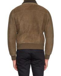 Saint Laurent - Natural Zip-up Shearling Jacket for Men - Lyst