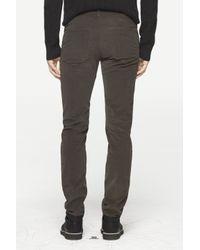 Rag & Bone Gray Race Drainpipe Trouser for men