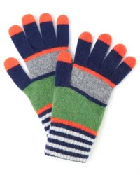 Quinton-chadwick Orange Multi-stripe Lambswool Gloves for men
