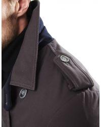 Jules B - Gray Trench Coat for Men - Lyst