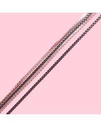 MZ Wallace Metallic Saskia Diez Very Long Fade Loop Silver Necklace