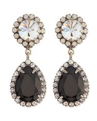 DANNIJO | Metallic Monaco Black Teardrop Earrings | Lyst