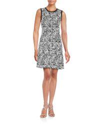 DKNY | Black Textured A-line Sweater Dress | Lyst