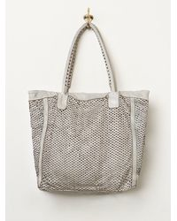 Free People Gray Torres Leather Tote