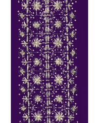 Oscar de la Renta - Purple Violet Three Quarter Sleeve Caftan - Lyst