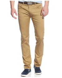 Armani Jeans Natural 5-pocket Regular Fit Twill Pants for men