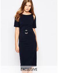 Twin Sister - Black A Line Midi Dress - Lyst