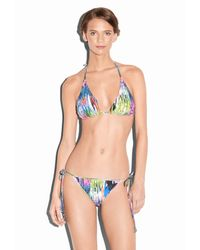 MILLY - Multicolor Marble Isla Mujeres Bikini Top - Lyst