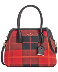 kate spade new york Red Cameron Street Fabric Maise Satchel