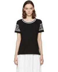 KENZO - Black And White Logo T-shirt - Lyst