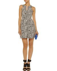 W118 by Walter Baker White Reba Leopard-Jacquard Mini Dress