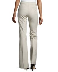 Tibi Natural Anson Stretch Boot-Cut Pants