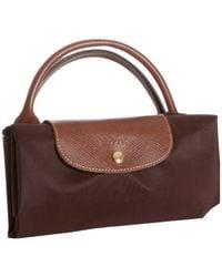 Longchamp | Brown Chocolate Nylon 'Le Pliage' Large Folding Travel Tote | Lyst