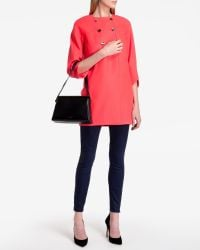Ted Baker - Orange Double Breasted Wool Coat - Lyst