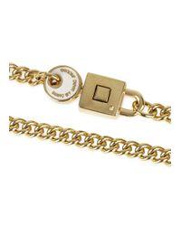 Marc By Marc Jacobs | Metallic Lock In White Gold Tone Bracelet | Lyst