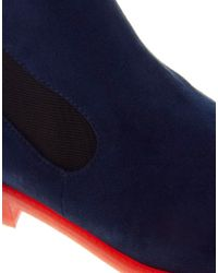 ASOS | Blue Aladdin Chelsea Ankle Boots | Lyst