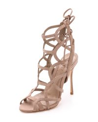 Schutz | Natural Joelle Strappy Sandals | Lyst