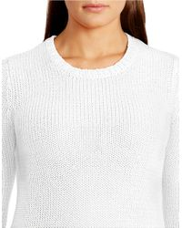 Lauren by Ralph Lauren | White Plus Crewneck Sweater | Lyst
