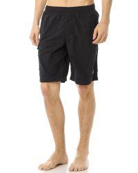 Stone Island Black Swim Trunks for men