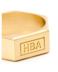 Hood By Air | Metallic Embossed Logo Ring for Men | Lyst