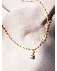 Free People | Metallic Ela Rae Womens Diamond Drop Choker | Lyst