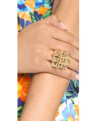 Marc By Marc Jacobs - Metallic Kandi Cage Ring - Clear - Lyst
