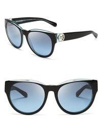Michael Kors - Black Bermuda Round Sunglasses - Lyst