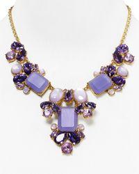"kate spade new york - Purple Glitzy Spritz Statement Necklace, 17"" - Lyst"