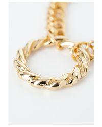 Missguided Metallic Karishma Chain Bracelet with Circle Pendant