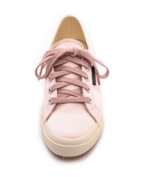 Superga Pink The Man Repeller X Satin Classic Olive Green
