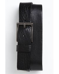 Trafalgar | Black 'reed' Leather Belt for Men | Lyst