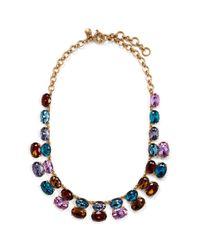 J.Crew - Multicolor Gem Stack Necklace - Lyst