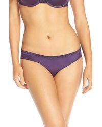Le Mystere Purple 'safari' Lace Trim Bikini