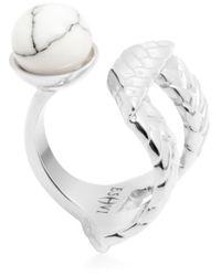 Eshvi - Metallic 'Braid' Ring - Lyst