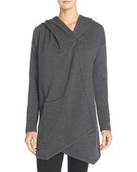 Zella - Gray 'cozy Cozy' Hooded Wrap - Lyst