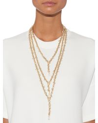 Rosantica By Michela Panero Metallic Fata Layered Pearl-embellished Necklace