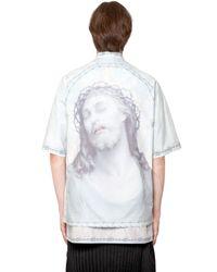 Givenchy | Blue Columbian Printed Cotton Poplin Shirt for Men | Lyst